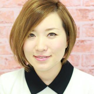 ハイライト モード アシメバング 外国人風 ヘアスタイルや髪型の写真・画像