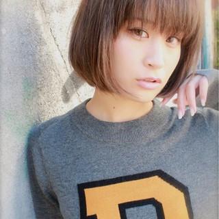 暗髪 グラデーションカラー ボブ 外国人風 ヘアスタイルや髪型の写真・画像