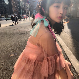謝恩会 ガーリー 簡単ヘアアレンジ ヘアアレンジ ヘアスタイルや髪型の写真・画像
