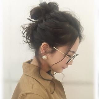 セミロング 簡単ヘアアレンジ 大人かわいい ショート ヘアスタイルや髪型の写真・画像
