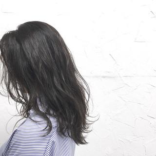 原宿系 アッシュ ロング ナチュラル ヘアスタイルや髪型の写真・画像