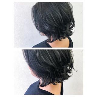 暗髪 ナチュラル 外ハネ 大人女子 ヘアスタイルや髪型の写真・画像 ヘアスタイルや髪型の写真・画像