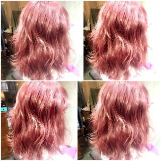 ゆるふわ 大人かわいい ガーリー ミディアム ヘアスタイルや髪型の写真・画像