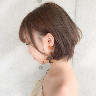 デート アンニュイほつれヘア パーマ ショートボブ ヘアスタイルや髪型の写真・画像 ヘアスタイルや髪型の写真・画像