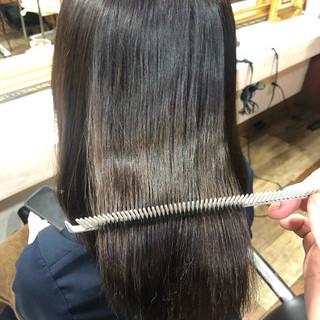 髪質改善 ロング 髪質改善トリートメント 縮毛矯正 ヘアスタイルや髪型の写真・画像