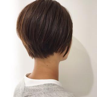 イルミナカラー トリートメント ナチュラル ショート ヘアスタイルや髪型の写真・画像