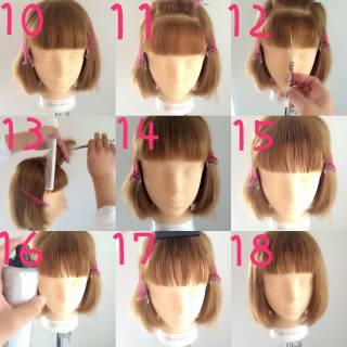 モード オン眉 ボブ 秋 ヘアスタイルや髪型の写真・画像