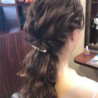 簡単ヘアアレンジ ロング 結婚式 ヘアアレンジ ヘアスタイルや髪型の写真・画像