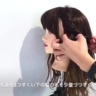 ヘアアレンジ ナチュラル セミロング デート ヘアスタイルや髪型の写真・画像