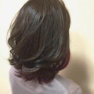 グラデーションカラー セミロング ナチュラル イルミナカラー ヘアスタイルや髪型の写真・画像 ヘアスタイルや髪型の写真・画像