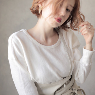 女子力 パーマ ナチュラル 外国人風 ヘアスタイルや髪型の写真・画像