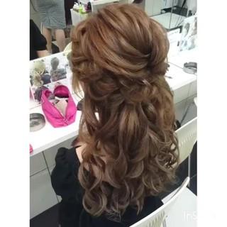 ヘアアレンジ ロング フェミニン ゆるふわ ヘアスタイルや髪型の写真・画像 ヘアスタイルや髪型の写真・画像