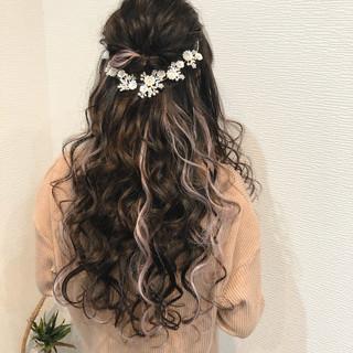 ヘアセット ヘアアレンジ フェミニン ロング ヘアスタイルや髪型の写真・画像