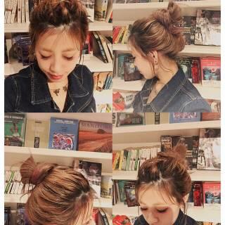 ヘアアレンジ ナチュラル 後れ毛 ロング ヘアスタイルや髪型の写真・画像