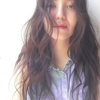 ロング ナチュラル パーマ 秋 ヘアスタイルや髪型の写真・画像