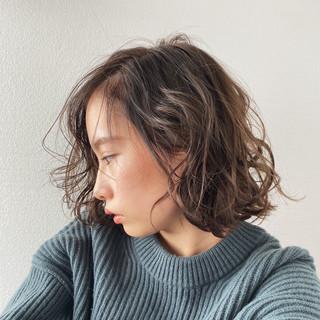 ナチュラル デジタルパーマ パーマ ショートヘア ヘアスタイルや髪型の写真・画像