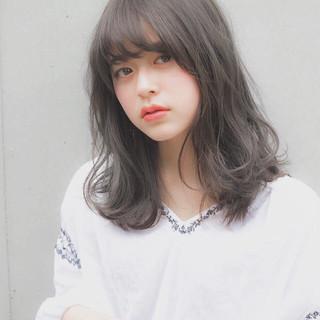 大人かわいい 前髪 デート フェミニン ヘアスタイルや髪型の写真・画像