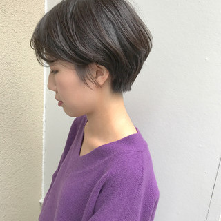 マッシュ 大人女子 マニッシュ ショート ヘアスタイルや髪型の写真・画像