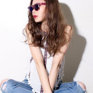 アッシュ ハイライト 外国人風 ストリート ヘアスタイルや髪型の写真・画像