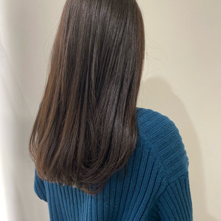 ナチュラル 似合わせカット ロング 透明感カラー ヘアスタイルや髪型の写真・画像