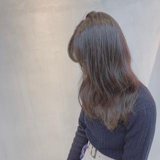 透明感カラー 外国人風カラー ハイトーン セミロング ヘアスタイルや髪型の写真・画像