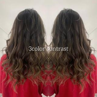 3Dハイライト ロング 外国人風カラー ナチュラル ヘアスタイルや髪型の写真・画像