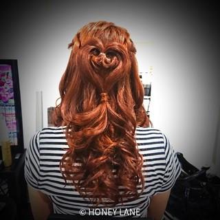 女子会 ヘアアレンジ セミロング イベント ヘアスタイルや髪型の写真・画像