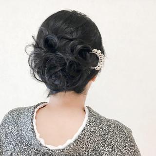 結婚式 着物 和装 ヘアアレンジ ヘアスタイルや髪型の写真・画像