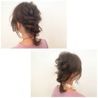 簡単ヘアアレンジ 編み込み ショート 大人かわいい ヘアスタイルや髪型の写真・画像
