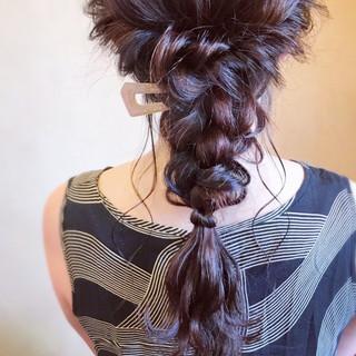 エレガント 簡単ヘアアレンジ ロング 編みおろし ヘアスタイルや髪型の写真・画像