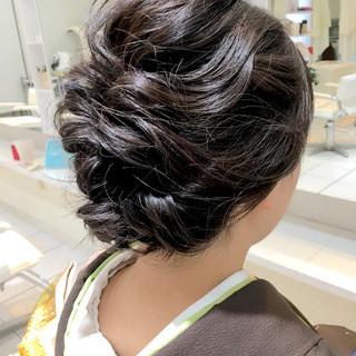 黒髪 パーティ ナチュラル ヘアアレンジ ヘアスタイルや髪型の写真・画像 ヘアスタイルや髪型の写真・画像