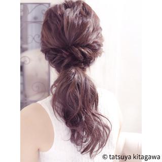 デート 結婚式 ロング ゆるふわ ヘアスタイルや髪型の写真・画像