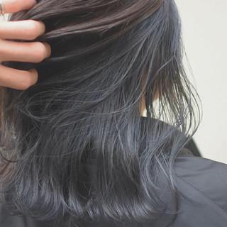 ミディアム ハイライト インナーカラー ダブルカラー ヘアスタイルや髪型の写真・画像