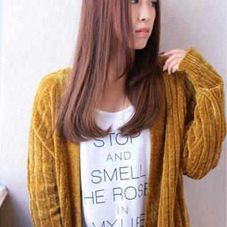 ゆるふわ 大人かわいい フェミニン ストレート ヘアスタイルや髪型の写真・画像