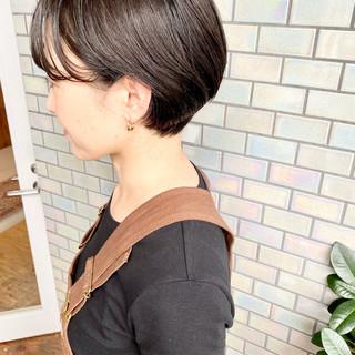 ショート デート ナチュラル ショートボブ ヘアスタイルや髪型の写真・画像