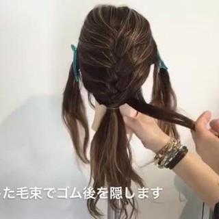 女子会 デート ナチュラル アウトドア ヘアスタイルや髪型の写真・画像