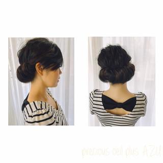 黒髪 ギブソンタック 結婚式 フェミニン ヘアスタイルや髪型の写真・画像 ヘアスタイルや髪型の写真・画像