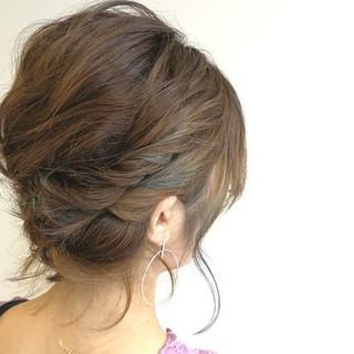ローライト 結婚式 ガーリー ハイライト ヘアスタイルや髪型の写真・画像