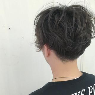 ストリート ボーイッシュ アッシュ ショート ヘアスタイルや髪型の写真・画像