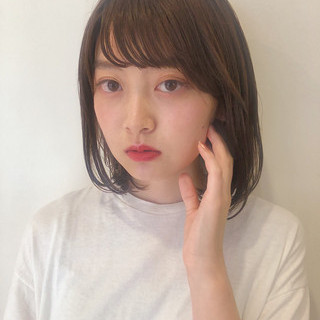 ミニボブ 外ハネボブ 韓国ヘア モテボブ ヘアスタイルや髪型の写真・画像