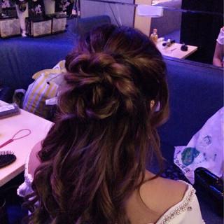 ゆるふわ ねじり 編み込み ヘアアレンジ ヘアスタイルや髪型の写真・画像 ヘアスタイルや髪型の写真・画像