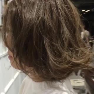 ガーリー デート ボブ 簡単ヘアアレンジ ヘアスタイルや髪型の写真・画像
