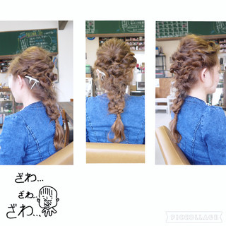 編み込み くるりんぱ ヘアアレンジ ロング ヘアスタイルや髪型の写真・画像 ヘアスタイルや髪型の写真・画像
