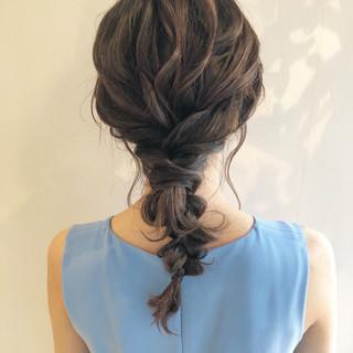 ローポニー お呼ばれ ナチュラル 結婚式 ヘアスタイルや髪型の写真・画像