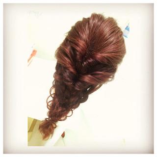 ロング ディズニー くるりんぱ 編み込み ヘアスタイルや髪型の写真・画像 ヘアスタイルや髪型の写真・画像