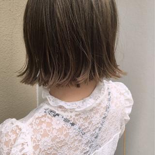 外国人風 ゆるふわ 透明感 ボブ ヘアスタイルや髪型の写真・画像