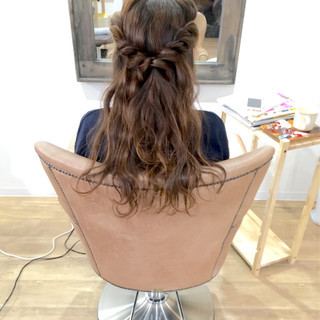 ハーフアップ ロング ショート ヘアアレンジ ヘアスタイルや髪型の写真・画像