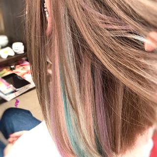 ハイトーン 夏 ユニコーン ボブ ヘアスタイルや髪型の写真・画像