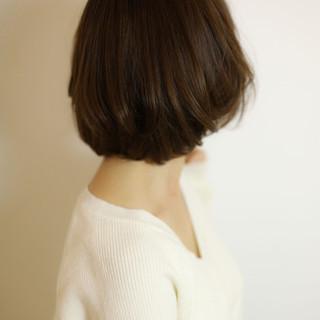 ナチュラル ショートヘア ボブ ミニボブ ヘアスタイルや髪型の写真・画像