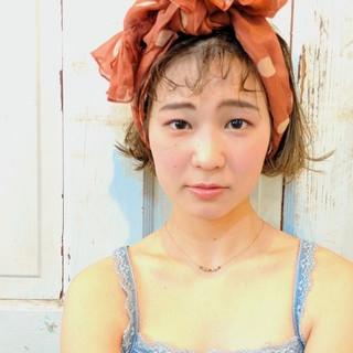 簡単ヘアアレンジ ヘアアレンジ ガーリー ショートボブ ヘアスタイルや髪型の写真・画像